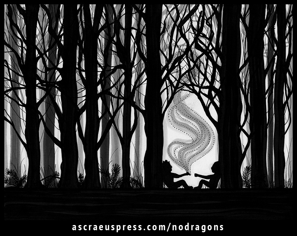 No Dragons Press by Ascraeus Press: chapter 13. Illustration by Emily Ruf