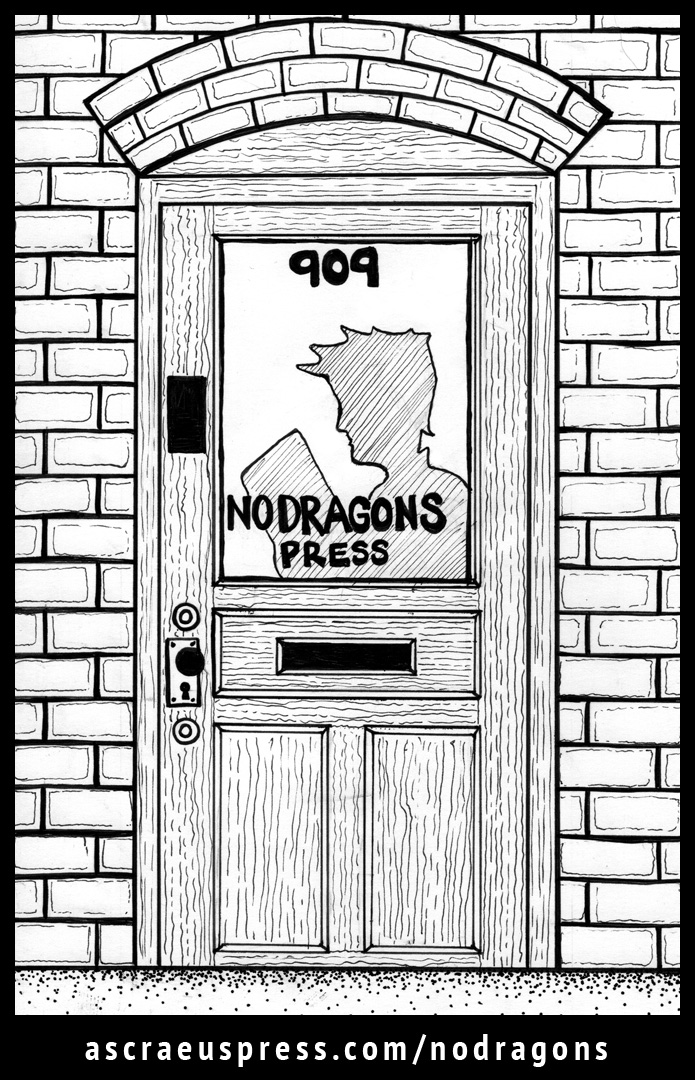 No Dragons Press by Ascraeus Press: chapter 1. Illustration by Emily Ruf